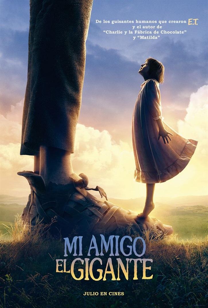 Uno de los carteles promocionales del filme | 'Mi amigo el gigante': Emotiva fábula fantástica del genial Steven Spielberg