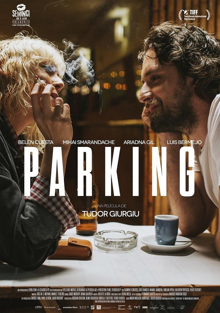 Cartel promocional del filme | 'Parking': Un reparto solvente aúpa las deficiencias de un guion inverosímil