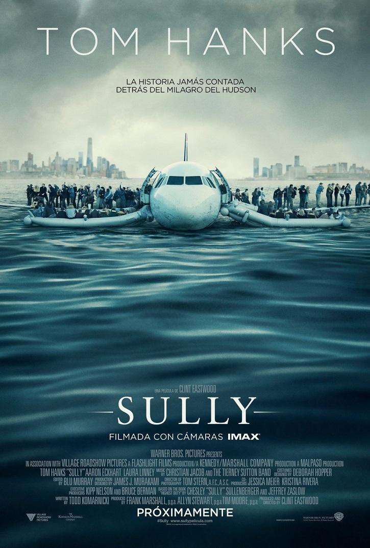 Cartel promocional de Sully | Clint Eastwood cumple hoy 90 años y a mí ya me ha arreglado el día