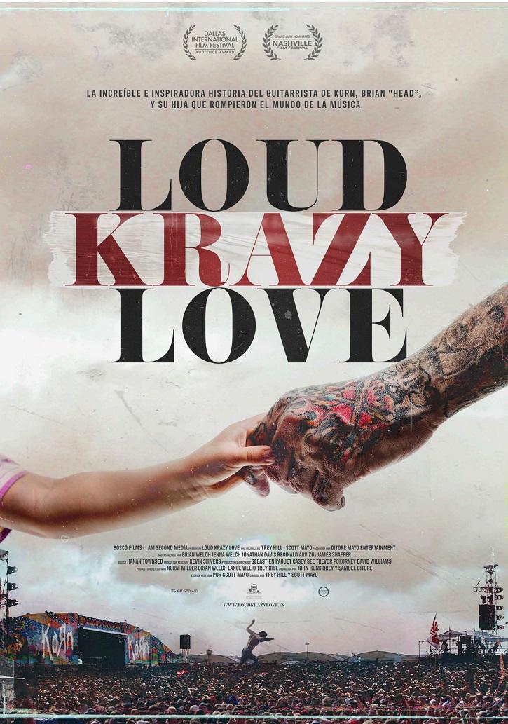 Cartel promocional del filme | 'Loud Krazy Love': El músico Brian Head, anulado de las drogas por la fe