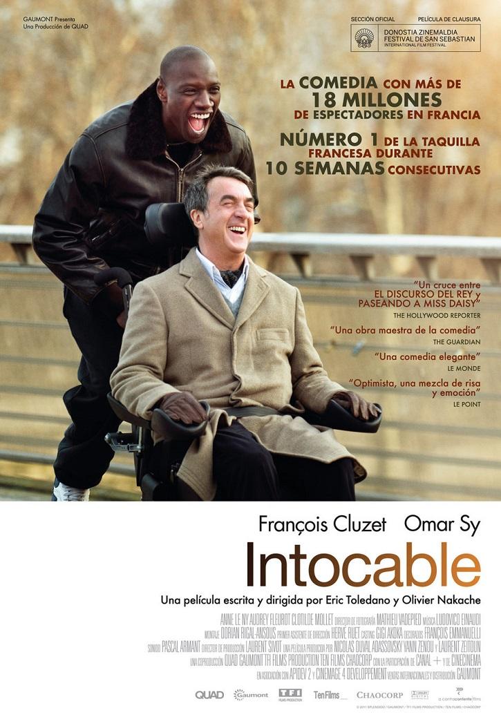 Cartel promocional del filme | 'Intocable': Impecable comedia francesa sobre las ganas de vivir