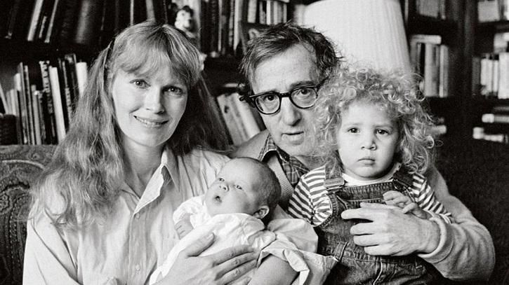 Woody Allen, Mia Farrow y familia