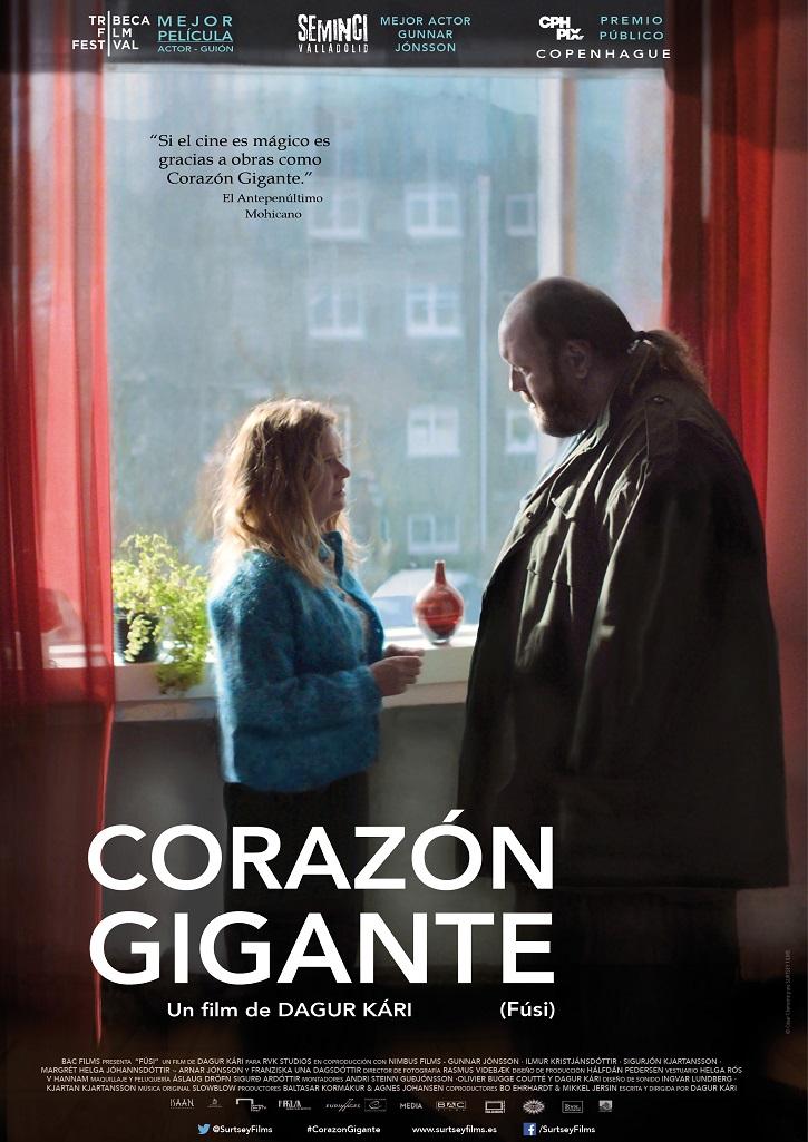 Cartel promocional del filme | 'Corazón gigante': Dagur Kári dice no a ponerle puertas al amor