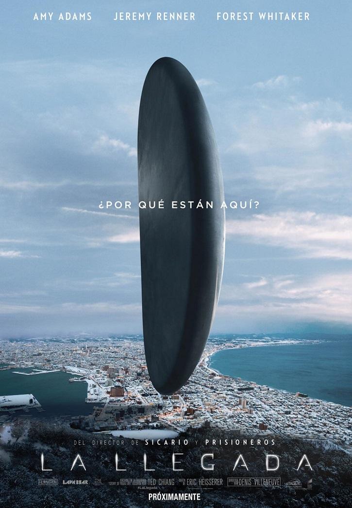 Cartel promocional del filme   'La llegada': Refrescante thriller de ciencia ficción sobre la pérdida