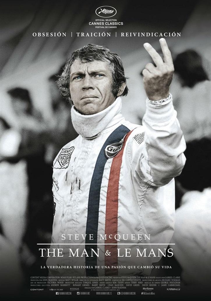 Cartel promocional del filme | 'Steve McQueen: The man & le mans': El tormento y el éxtasis del mito
