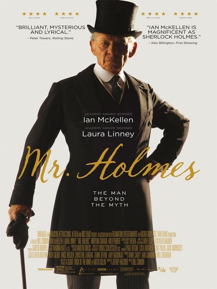 Cartel promocional del filme   Estás equivocado si crees que lo sabes todo de 'Míster Holmes'