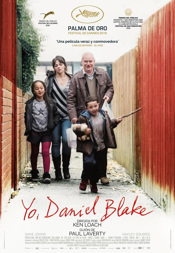 Cartel promocional del filme | 'Yo, Daniel Blake': Ken Loach insiste en denunciar la injusticia social