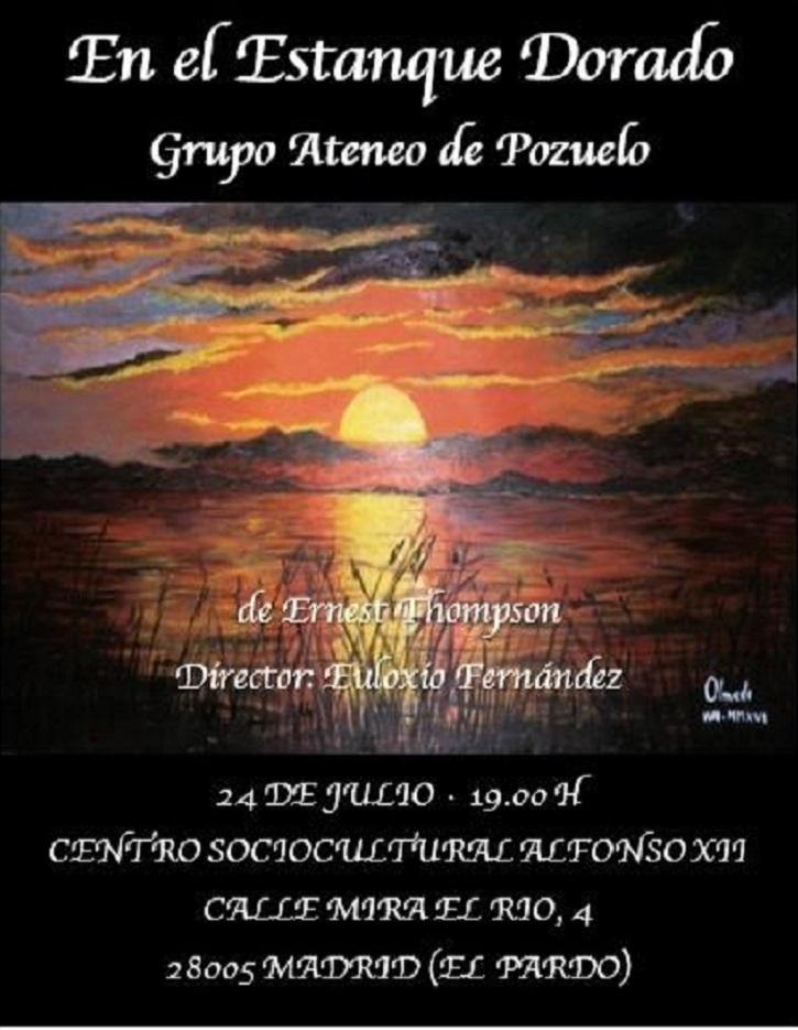 Cartel promocional del filme   Ateneo de Pozuelo llega a El Pardo con 'En el estanque dorado'