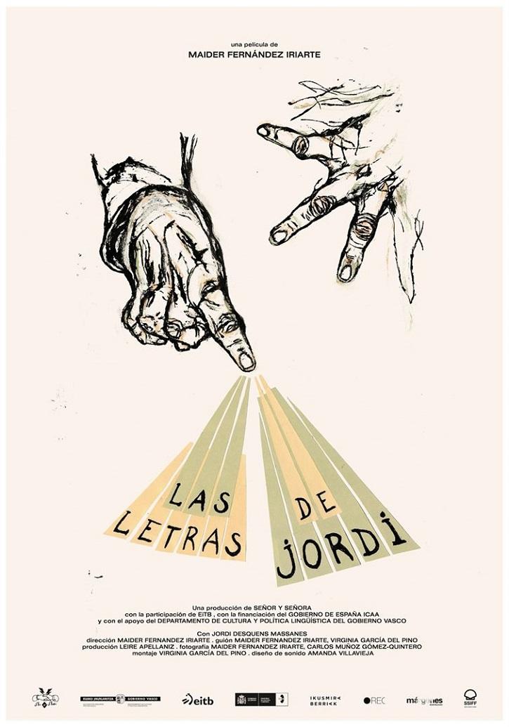 Cartel promocional del filme   'Las letras de Jordi': Palabras encadenadas hacia el amor a Dios