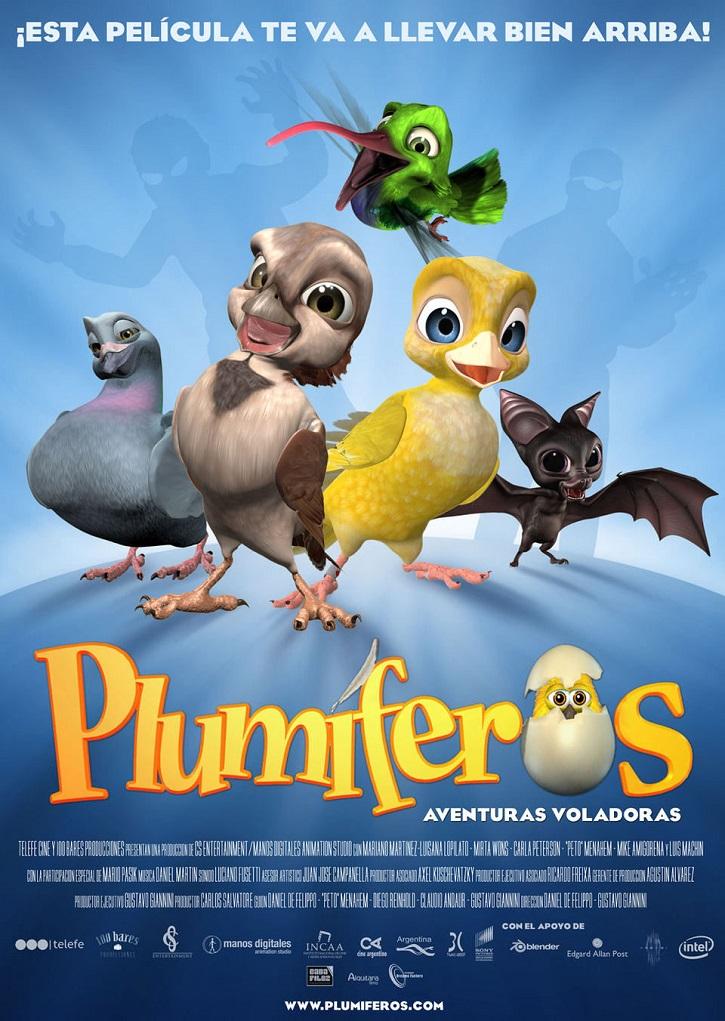 Cartel promocional del filme | 'Plumíferos, aventuras voladoras': Más que animación en 3D en Argentina