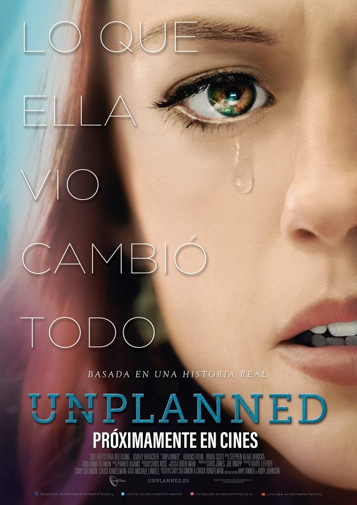 Cartel promocional del filme | 'Unplanned': mucho más que un rotundo sí a la vida
