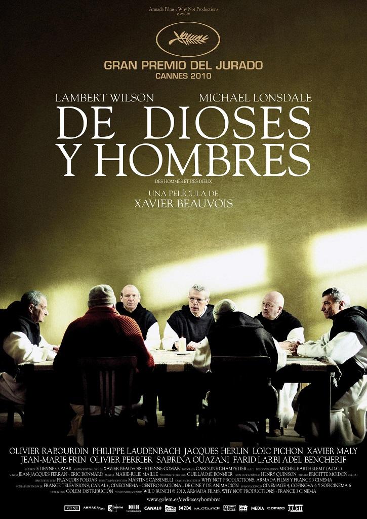 Cartel promocional del filme | 'Des hommes et des dieux': Prohibido olvidarse de los monjes de Tibhirine