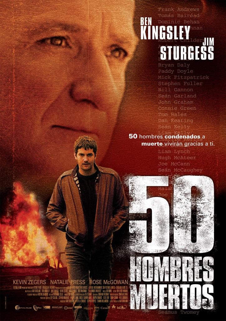 Cartel promocional del filme | '50 hombres muertos': Atractivo thriller crepuscular con gran reparto actoral