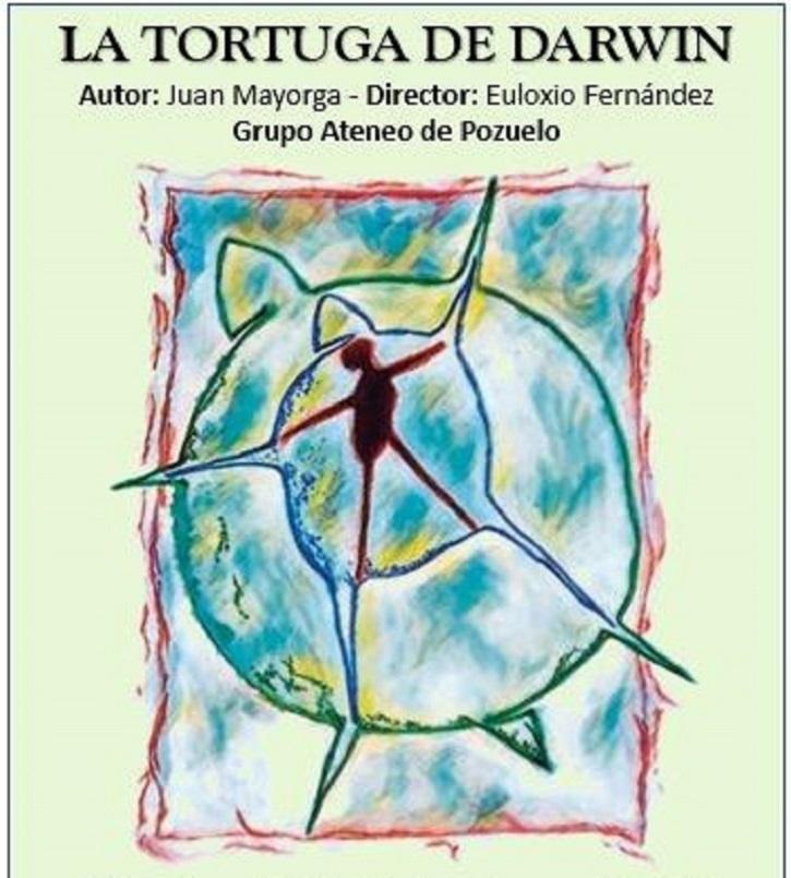 Cartel promocional | Ateneo de Pozuelo cierra el Certamen con La tortuga de Darwin en el Mira