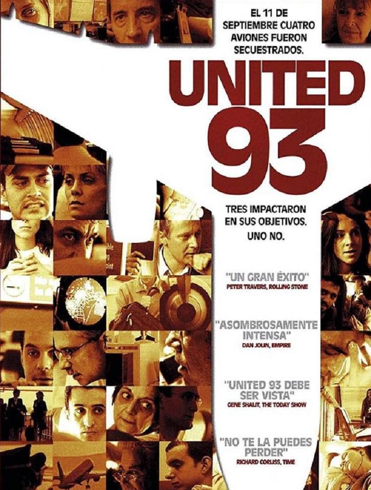 Uno de los carteles promocionales de la película | 19 años después recordamos 'United 93', la primera película sobre el 11-S