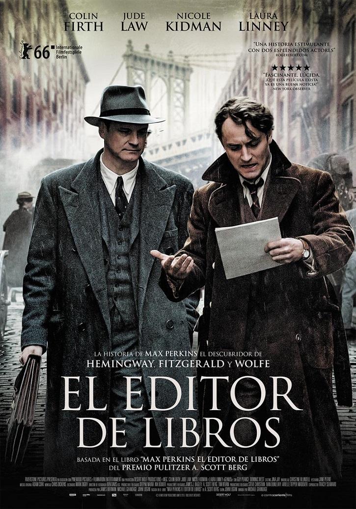 Uno de los carteles promocionales de la película | 'El editor de libros': Magistral biopic del debutante Michael Grandage