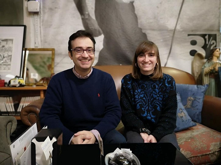 La directora de cine Maider Fernández y José Luis Panero