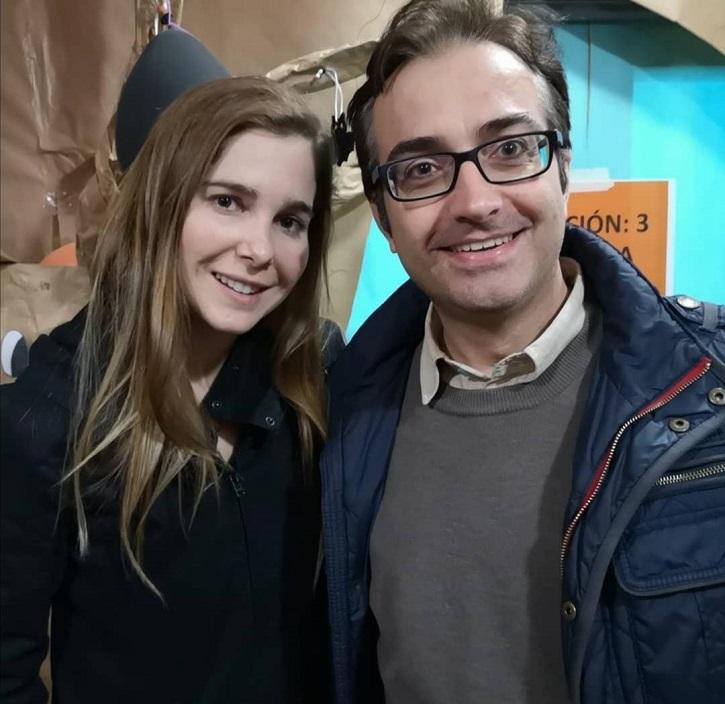 La actriz Natalia Sánchez y José Luis Panero