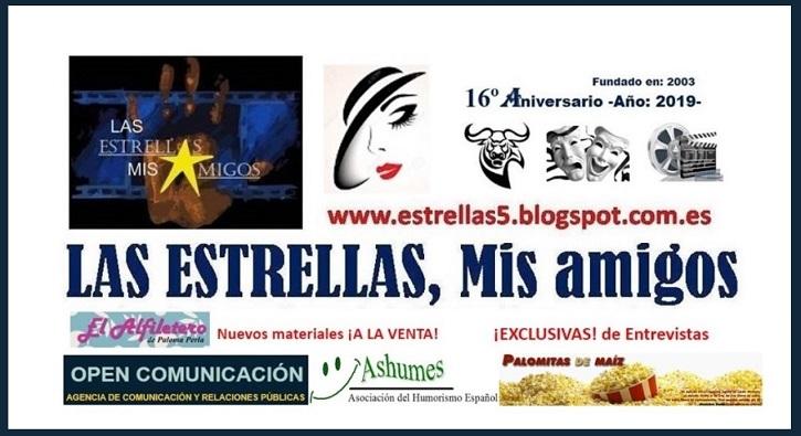 Portada de la web LAS ESTRELLAS, Mis amigos, dirigida por Javier García | 'Palomitas de Maíz' cumple hoy 12 años: ¡Muchísimas felicidades!