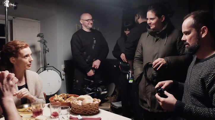 Durante una pausa en el rodaje de Arima | La actriz Rosa Puga Davila propuesta para los Goya por 'Arima'