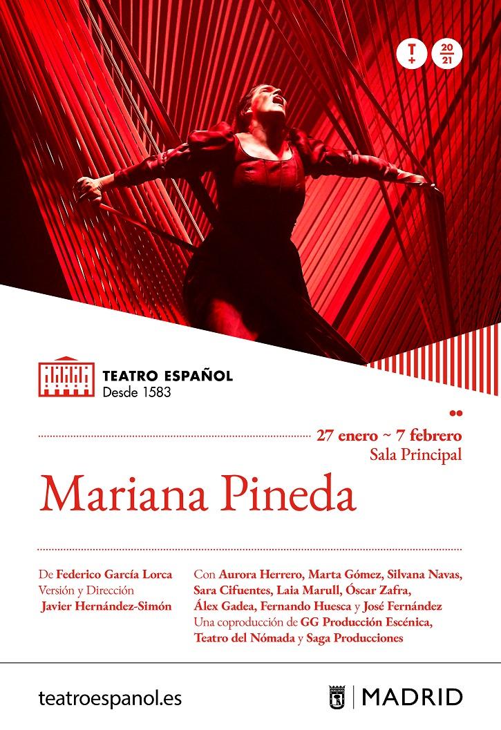 Cartel promocional de Mariana Pineda | Federico García Lorca protagoniza el Día Mundial del Teatro