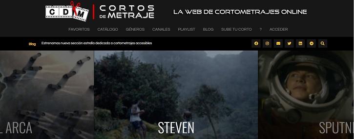 Apariencia de la plataforma | La web de cine 'Cortos de Metraje' celebra su quinto aniversario