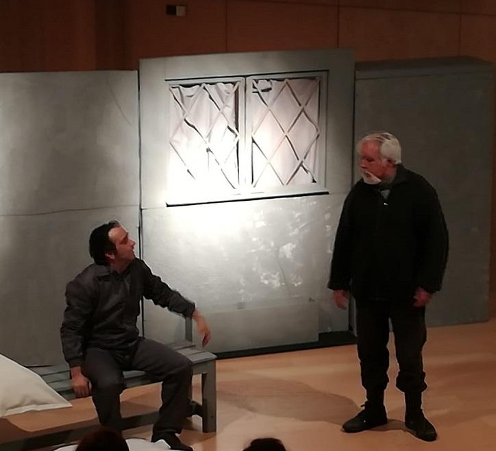 Luis y Juan, interpretados respectivamente por José Luis Panero y Eusebio Mateo | Aquí no paga nadie llega a la Escuela de música con el Ateneo de Pozuelo