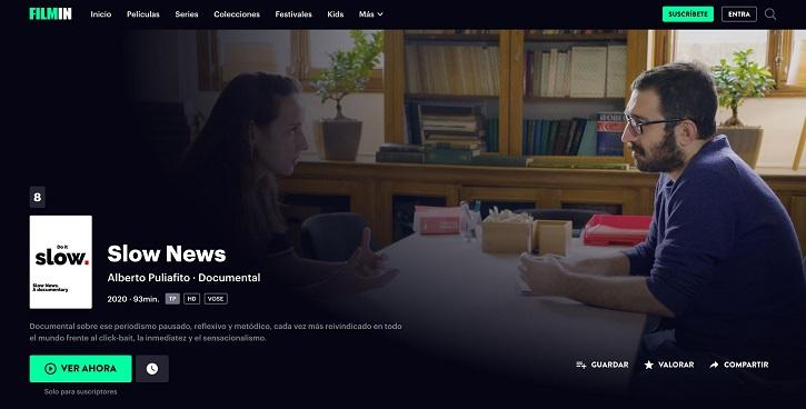 Fotograma de Slow News, programada el año pasado | 'Another Way Film Festival': Arranca la fiesta del cine documental