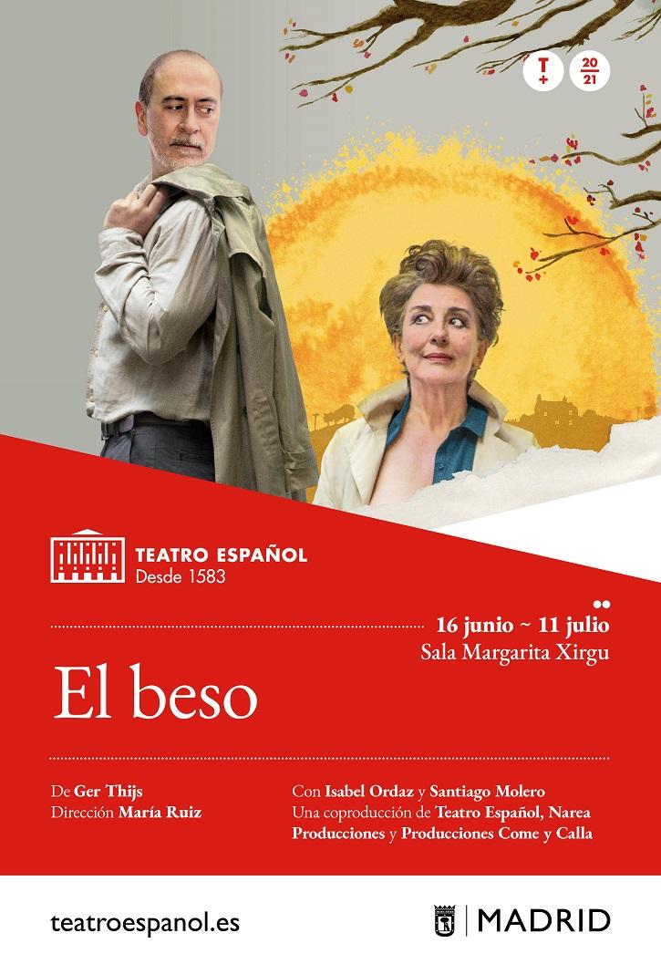 Cartel de El beso. Imagen de Roberto Carmona