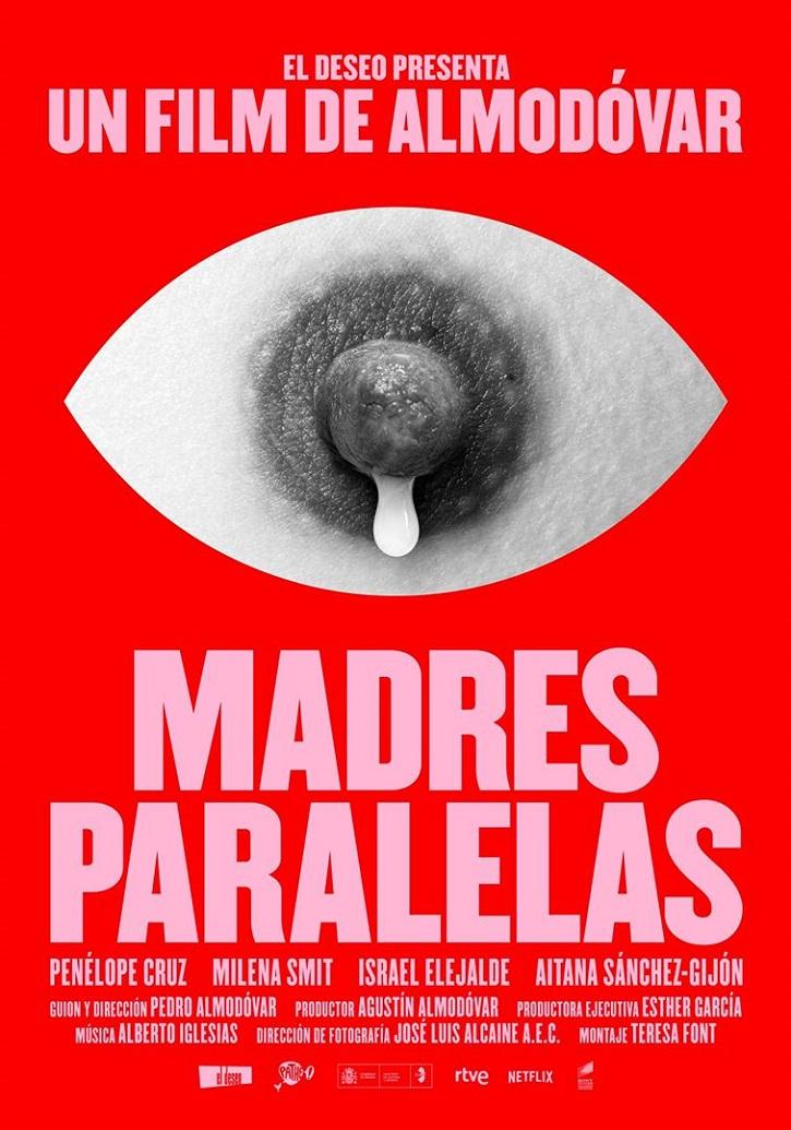 Uno de los carteles de Madres paralelas