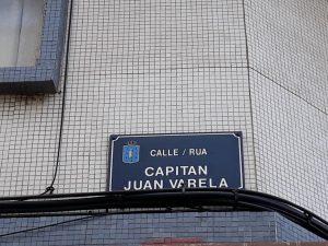Placa de Capitán Juan Varela