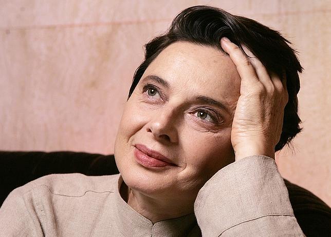 Una foto más actual de la estupenda Isabella Rossellini del archivo del periódico ABC.