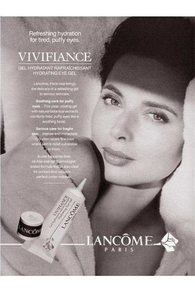 Una imagen ya vintage de una campaña de publicidad de Lancôme con la actriz.