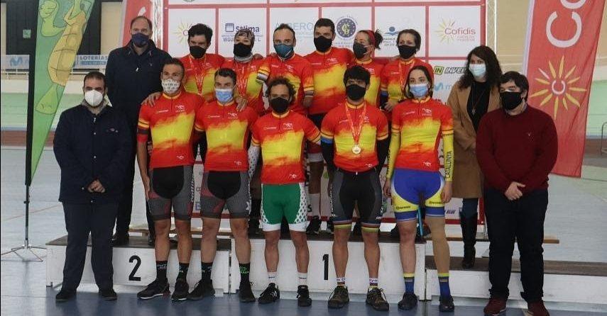 Ten y Cabello, campeones de España de Ciclismo Adaptado en Pista