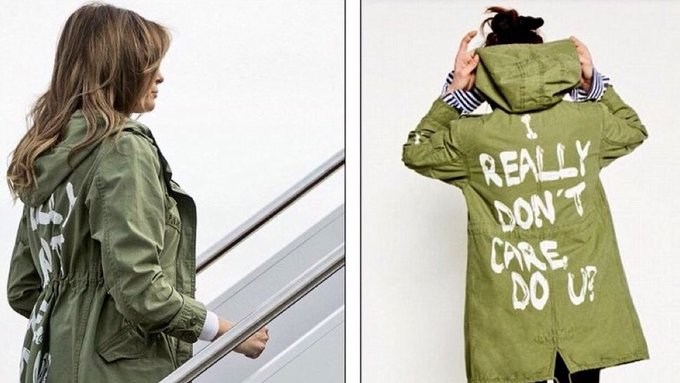 Melania Trump la lía parda con una chaqueta de Zara