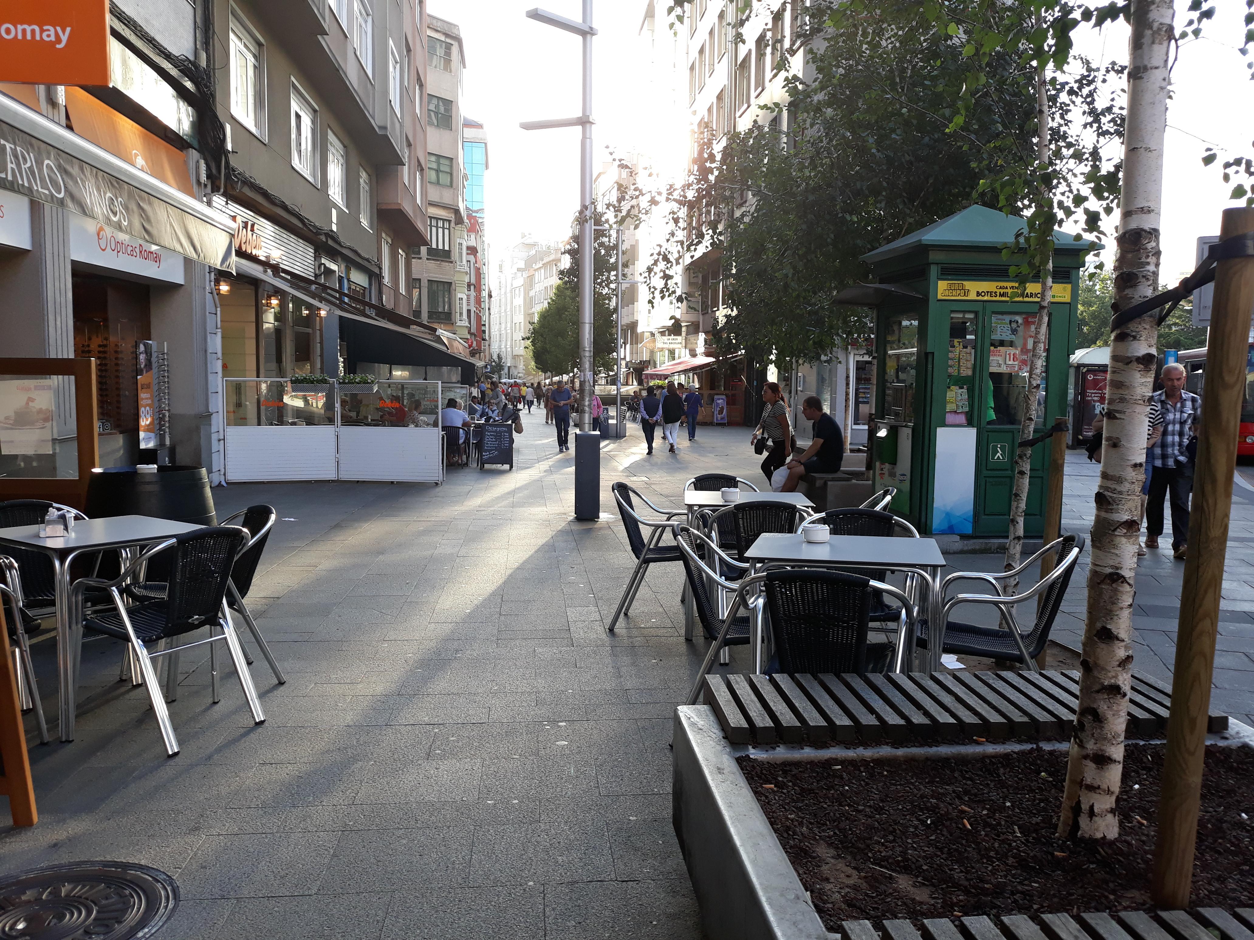 Calle Gaiteira: quedamos en la peatonal