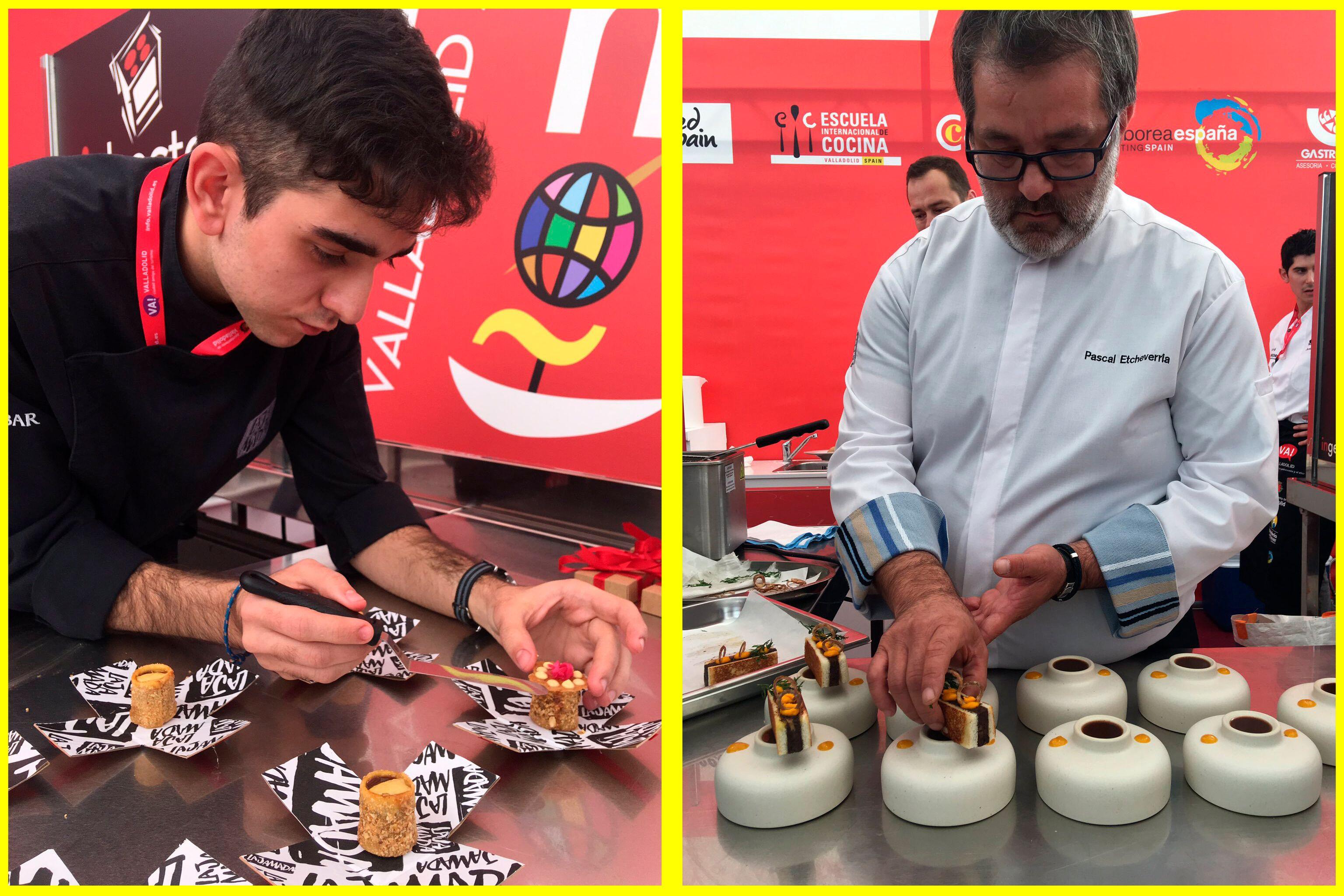 ¡Son campeones! Francisco Javier Ruiz, de la Jamada de Arrabal, en Burgos, y Pascal Etcheverria, de Francia, ganadores de Tapas 2019
